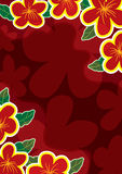 El oro rojo abstracto florece Frame_eps Fotografía de archivo