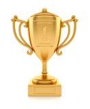 El oro se divierte la taza de campeón Imágenes de archivo libres de regalías
