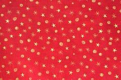 El oro stars el fondo del día de fiesta Foto de archivo