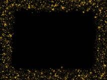 El oro stars el marco Imágenes de archivo libres de regalías