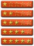 El oro stars grados Imágenes de archivo libres de regalías
