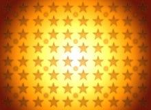 El oro stars la ilustración del fondo del ganador Fotos de archivo libres de regalías