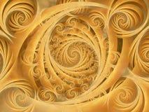 El oro Wispy tuerce en espiral modelo Foto de archivo libre de regalías