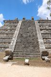 El Osario, Chichen Itza. El Osario Spanish for `the Ossuary`, also known as the Bonehouse or the Tumba del Gran Sacerdote. It is a ruined Maya pyramid in the Royalty Free Stock Photos