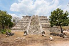 El Osario o Tumba del Gran Sacerdote, Chichen Itza, Yucatan, Mexico Stock Image