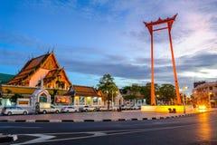 El oscilación gigante, señal en Bangkok, Bangkok, Tailandia Foto de archivo libre de regalías