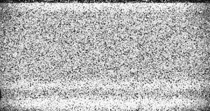 El oscilar realista del vhs de la interferencia del fondo colorido del ruido, señal análoga del vintage TV con mala interferencia almacen de video