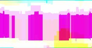 El oscilar realista del vhs del fondo colorido de la interferencia, an?logo stock de ilustración