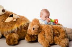 El oso del bebé y de peluche Foto de archivo