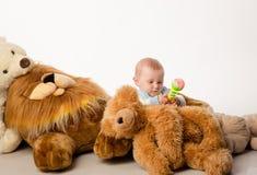 El oso del bebé y de peluche Fotografía de archivo