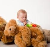 El oso del bebé y de peluche Fotos de archivo