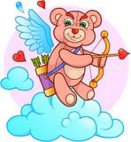 El oso del cupido está buscando una blanco para sus flechas Imagen de archivo libre de regalías
