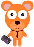 El oso va a la oficina Fotografía de archivo