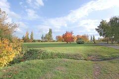 El otoño baja en Kolomenskoye Rusia Imagenes de archivo