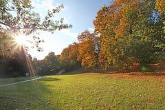 El otoño baja en Kolomenskoye Rusia Foto de archivo libre de regalías