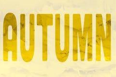 El otoño de la palabra fotos de archivo libres de regalías