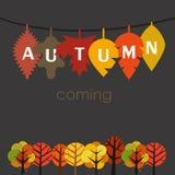 El otoño está viniendo Fotografía de archivo