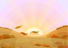 El otoño hoja-cae Imágenes de archivo libres de regalías
