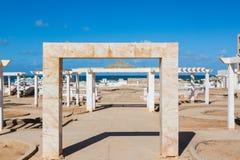 EL Ouatia sulla costa sudoccidentale del Marocco immagine stock