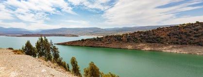 EL-Ouidane de poubelle de barrage Image libre de droits