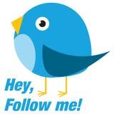 El pájaro de Twitter me sigue libre illustration