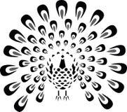 El pájaro del pavo real Stock de ilustración