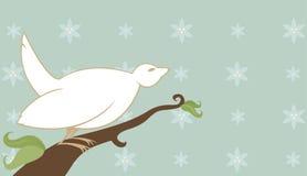 El pájaro gordo canta canciones ilustración del vector