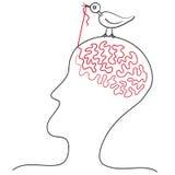 El pájaro picotea ideas Fotografía de archivo libre de regalías