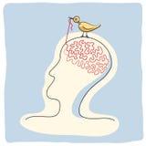 El pájaro picotea ideas Foto de archivo libre de regalías