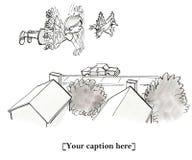 El pájaro stiffed por la cacerola de Pete ilustración del vector