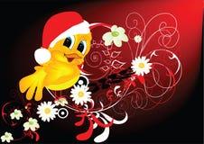 El pájaro tiene gusto de Papá Noel Fotografía de archivo