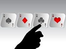 El póker aces la bandera Foto de archivo