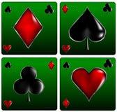 El póker carda muestras Fotos de archivo libres de regalías