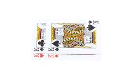 El póker carda a reyes Imágenes de archivo libres de regalías