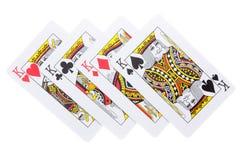El póker carda a reyes Imagen de archivo libre de regalías