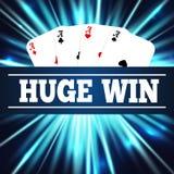 El póker de Ace carda el ejemplo del vector Imágenes de archivo libres de regalías