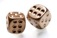 El póker de oro corta en cuadritos Fotos de archivo