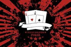 El póker Tejas las sostiene Foto de archivo libre de regalías