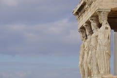El pórtico de la cariátide del Erechtheion Imagenes de archivo