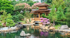 El pabellón oriental en Nan Lian Garden imagen de archivo libre de regalías