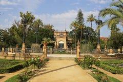El pabellón real de Maria Luisa Park en Sevilla imagen de archivo
