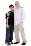 El padre abraza a su hijo Imagen de archivo