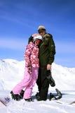 El padre con la hija Fotografía de archivo