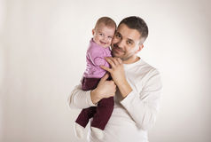Padre con el niño Imagenes de archivo