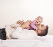 Padre con el niño Imagen de archivo libre de regalías