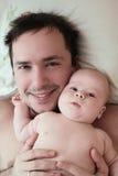 El padre y el hijo Imágenes de archivo libres de regalías