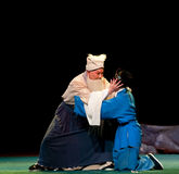 El padre y el hijo abrazan el pabellón de la brisa del š del ¼ del operaï de llorar-Jiangxi Imagen de archivo