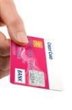 El pagar con de la tarjeta de crédito Imagen de archivo libre de regalías