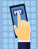 El pagar de Phone Fotos de archivo libres de regalías