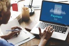 El pago beneficia a concepto del día de paga del presupuesto de la contabilidad foto de archivo libre de regalías